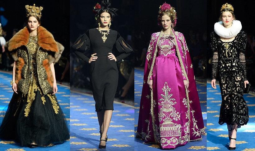 Dolce & Gabbana pokaz kolekcji couture Alta Moda na wiosnę 2017