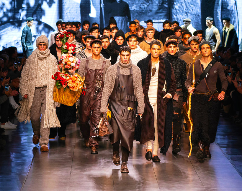 Dolce&Gabbana pokaz jesień zima 2020/21 moda męska tredny