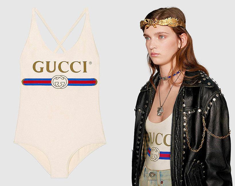 Drogi luksusowy kostium kąpielowy Gucci nie można się w nim kąpać