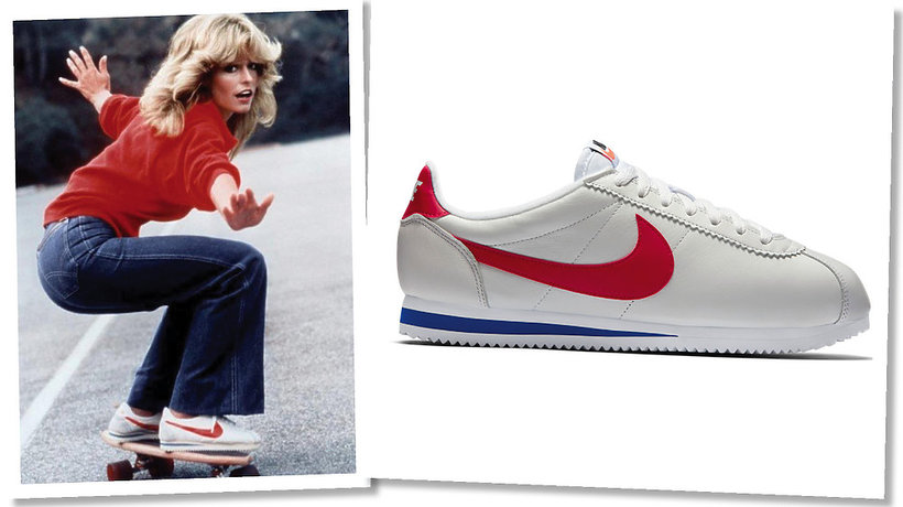 Farrah Fawcett w reklamie Nike Cortez