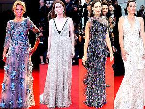 Festiwal Filmowy w Wenecji stylizacje gwiazd na czerwonym dywanie