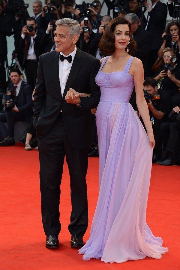 Festiwal Filmowy w Wenecji stylizacje gwiazd na czerwonym dywanie, Amal Clooney