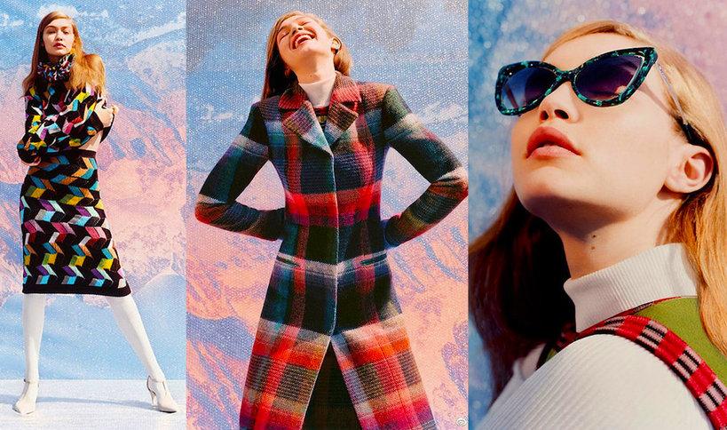 Gigi Hadid w reklamie kampanii Missoni na jesień/zimę 2017