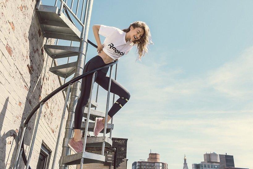 Gigi Hadid w reklamie linii Reebok Classic