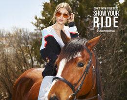 Gigi Hadid zaprojektowała kolekcję okularów przeciwsłonecznych dla marki Vogue