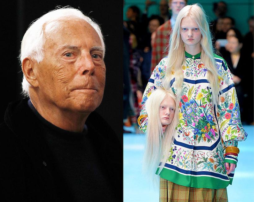 Giorgio Armani krytykuje ostatni pokaz Gucci