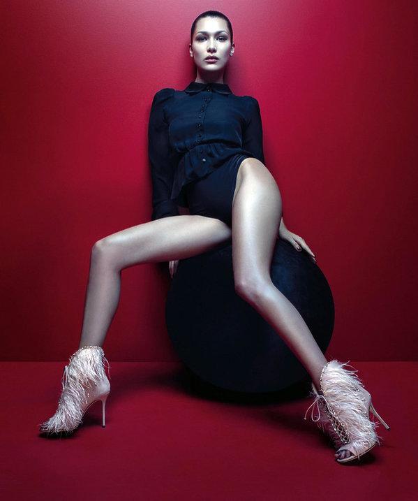 Giuseppe Zanotti kampania butów z Bella Hadid