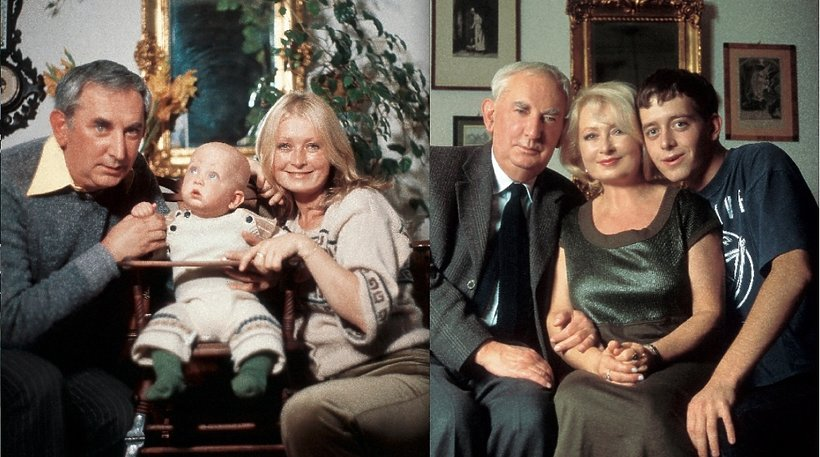 Gustaw Holoubek i Magdalena Zawadzka i ich syn, Jan Holoubek w 1979 i 1998 roku