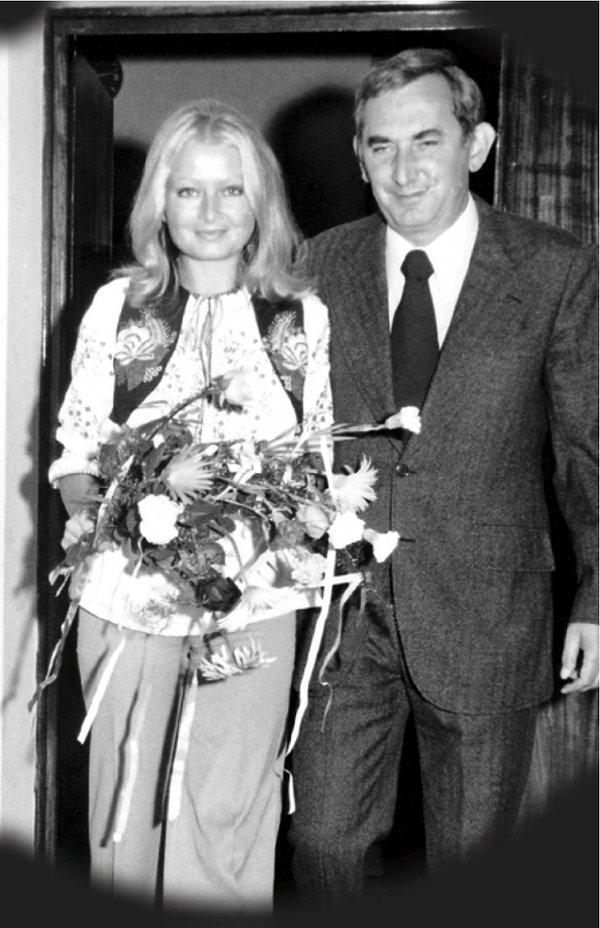 Gustaw Holoubek i Magdalena Zawadzka, ślub w 1973 roku