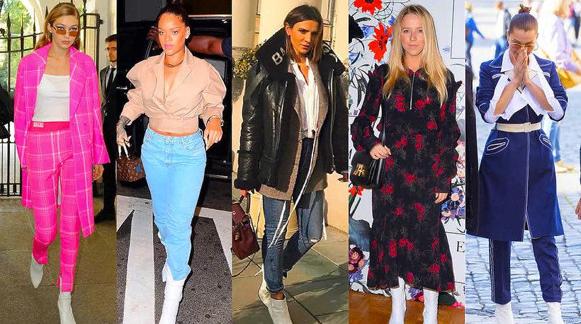 Gwiazdy noszą hit sezony białe buty, botki, kozaki