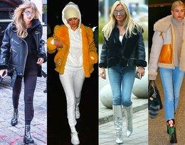 Gigi Hadid, Selena Gomez, Joanna Przetakiewicz, Irina Shayk witają zimę w krótkich kożuszkach! Gdzie je kupisz?