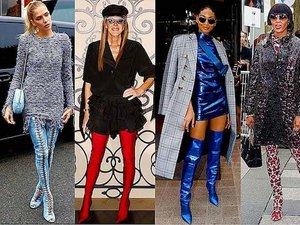 Gwiazdy noszą wysokie buty, gorący trend na jesień i zimę