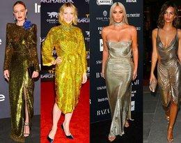 Nie masz pomysłu na sylwestrową kreację? Załóż tak jak Cate Blanchett, Kim Kardashian i Heidi Klum złotą sukienkę!