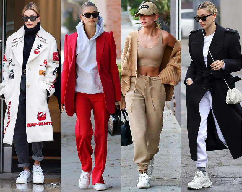 Hailey Bieber i jej sneakersy buty sportowe marki