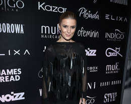 """Halina Mlynkova na pokazie kolekcji Roberta Kupisza na zimę 2018/19  """"Crown"""""""