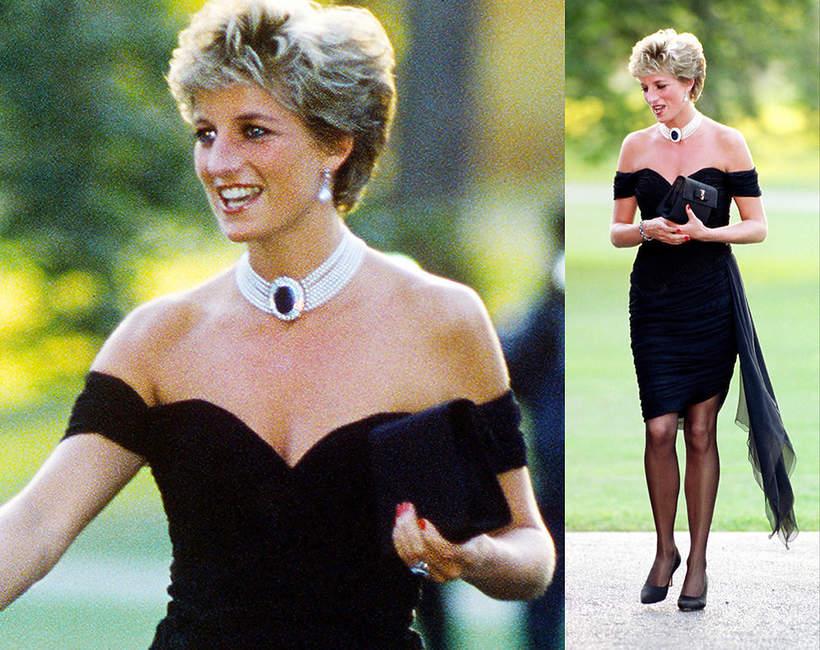 """historia """"sukienki zemsty"""" małej czarne księżnej Diany"""