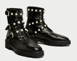 Hit sezonu motocyklowe buty w wersji glam, Zara 359 pln
