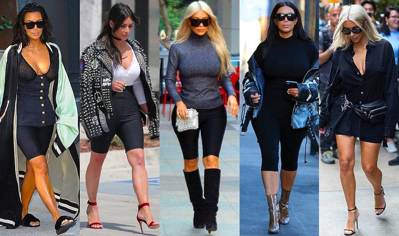 Kim Kardashian wylansowała trend na obcisłe spodenki rowerowe