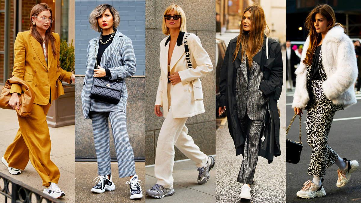 Jak nosić sneakersy do garnituru?