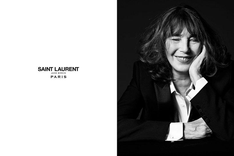 Jane Birkin w kampanii Saint Laurent