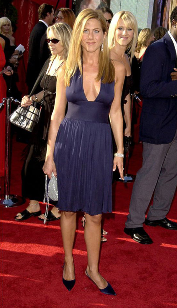 Jennifer Aniston vintage Halston , Emmy Awards 2003