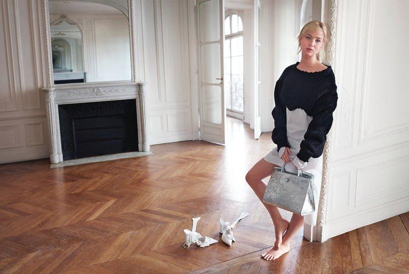 Jennifer Larence w reklamie domu mody Dior