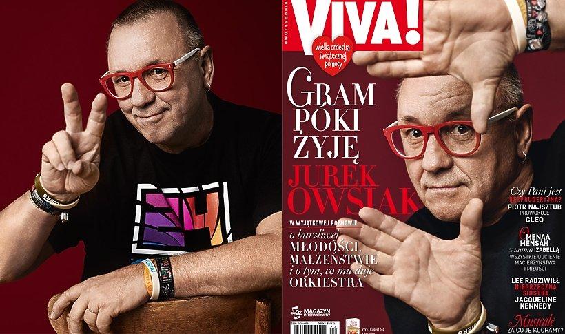 Jerzy Owsiak na okładce Vivy!
