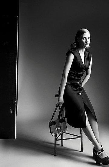 Jessica Chastain w najnowszej kampanii domu mody Prada