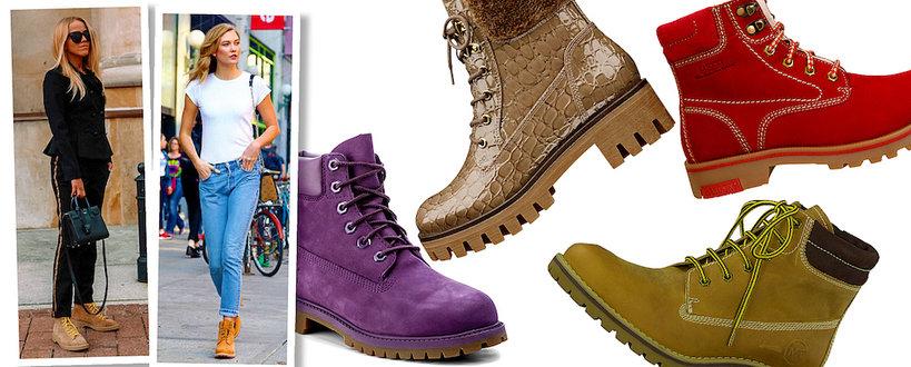 Jessica Mercedes, Karlie Kloss w najmodniejszych w tym sezonie butach traperskich