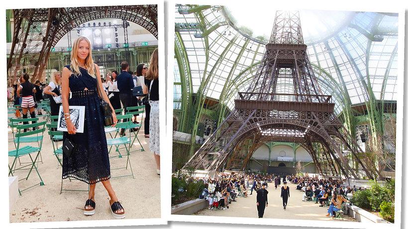 Jessica Mercedes na pokazie chanel haute couture na jesień 2017/2018