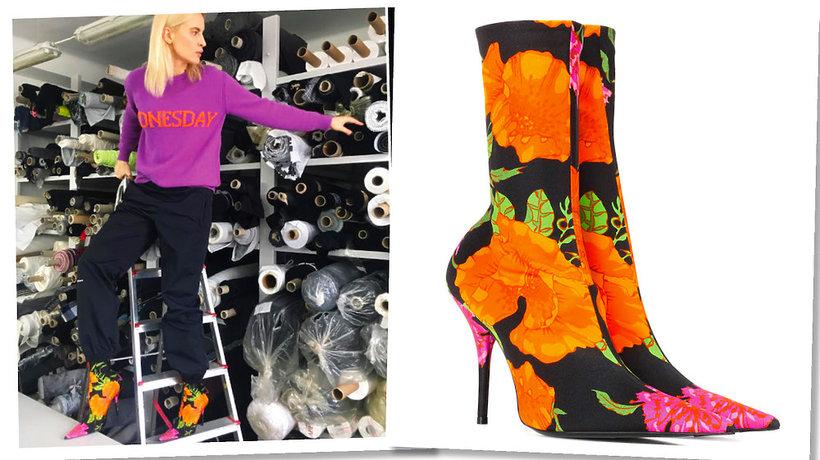 Joanna Horodyńska, buty Balenciaga