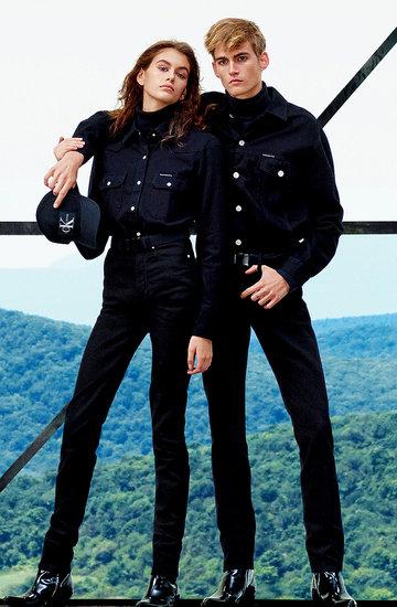 Kaia Gerber i jej brat Presley w kampanii Calvin Klein Jeans na jesień 2018