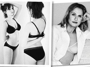 kampanii bielizny Calvin Klein, Lauren Hutton, córka Umy Thurman i Ethana Hawke, Mayi Thurman-Hawke