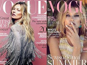 Kate Moss na okładkach magazyny VOGUE