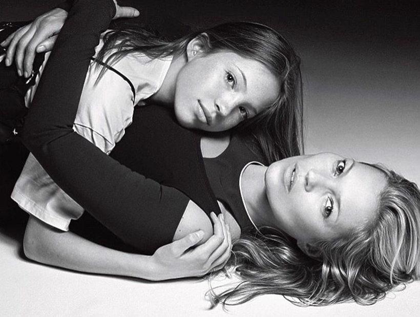 Kate Moss z córką Lily Grace na okładce magazyny VOGUE