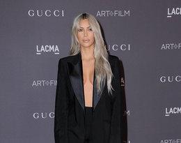 Kim kardashian w garniturze