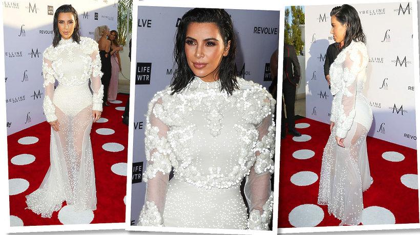 Kim Kardashian w sukni vintage Givenchy