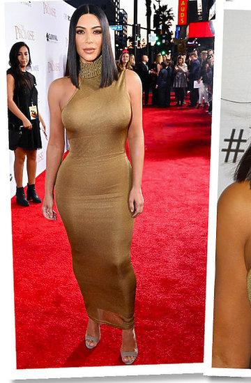 Kim Kardashian w sukni vintage Versace