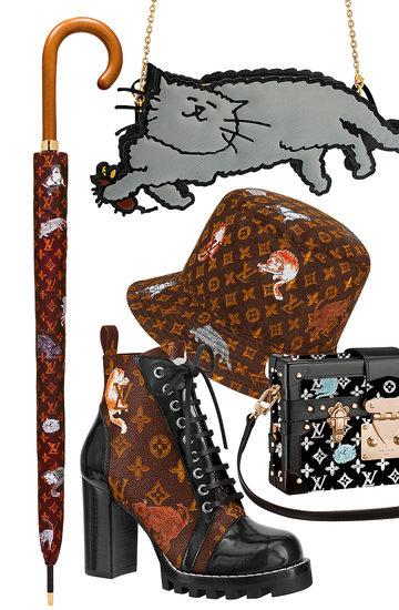 Kolekcja dodatków Luis Vuitton zaprojektowana przez  Grace Coddington