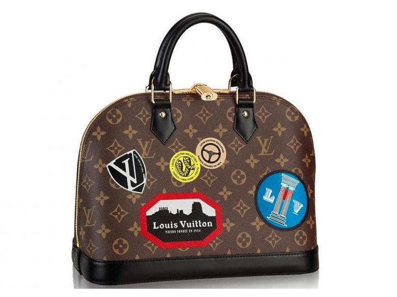 c6d30594e7b74 Kolekcja luksusowe torebki Louis Vuitton z kolorowymi aplikacjami ...