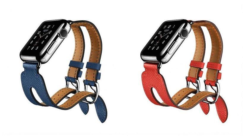 Kolekcja zegarków Hermèsa i Apple.