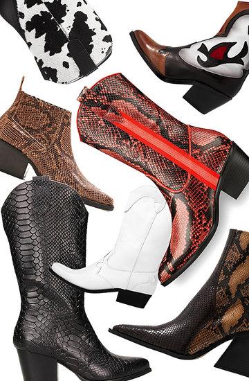 Kowbojki najmodniejsze buty na lato jesień 2019