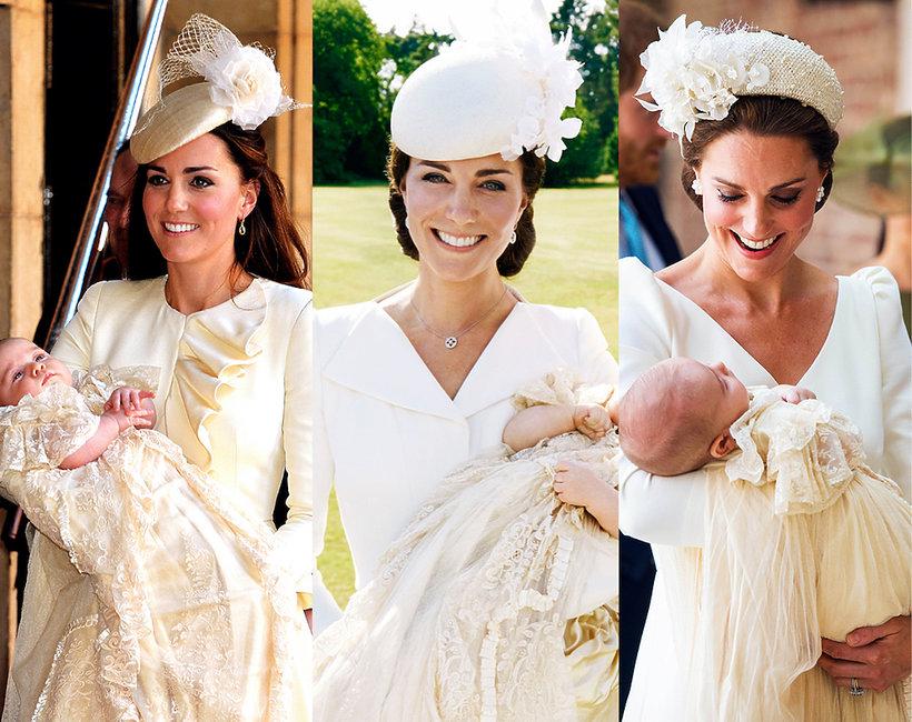 Kreacje Księżnej Kate na chrzcie swoich dzieci