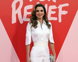 królowa Rania na imprezie Fashion for Relief w Cannes