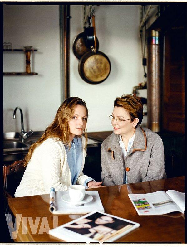 Krystyna Czubówna z córką