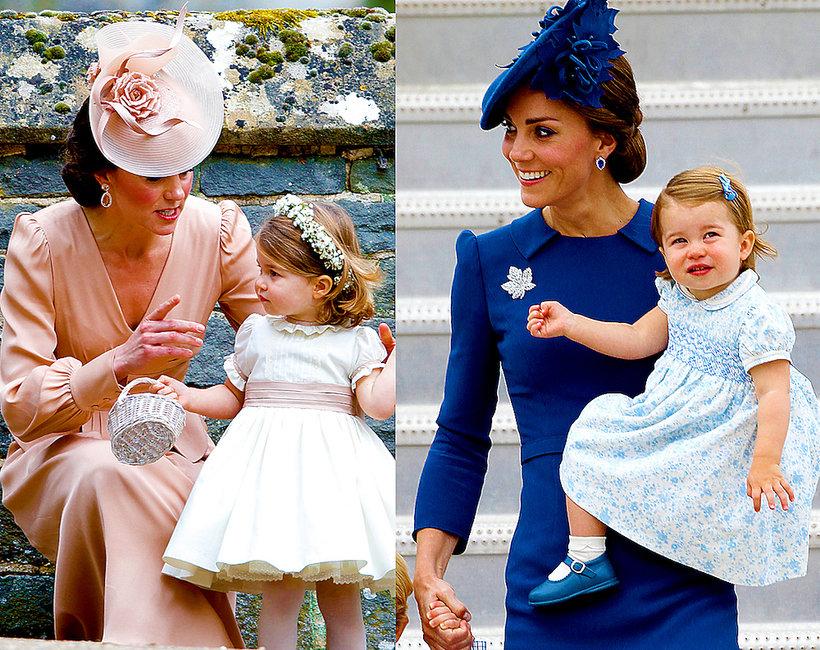 Księżna Kate i księżniczka Charlotte noszą ubrania w tych samych kolorach