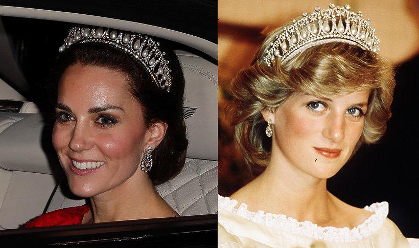 Księżna Kate w ukochanej tiarze księżnej Diany  Vivapl
