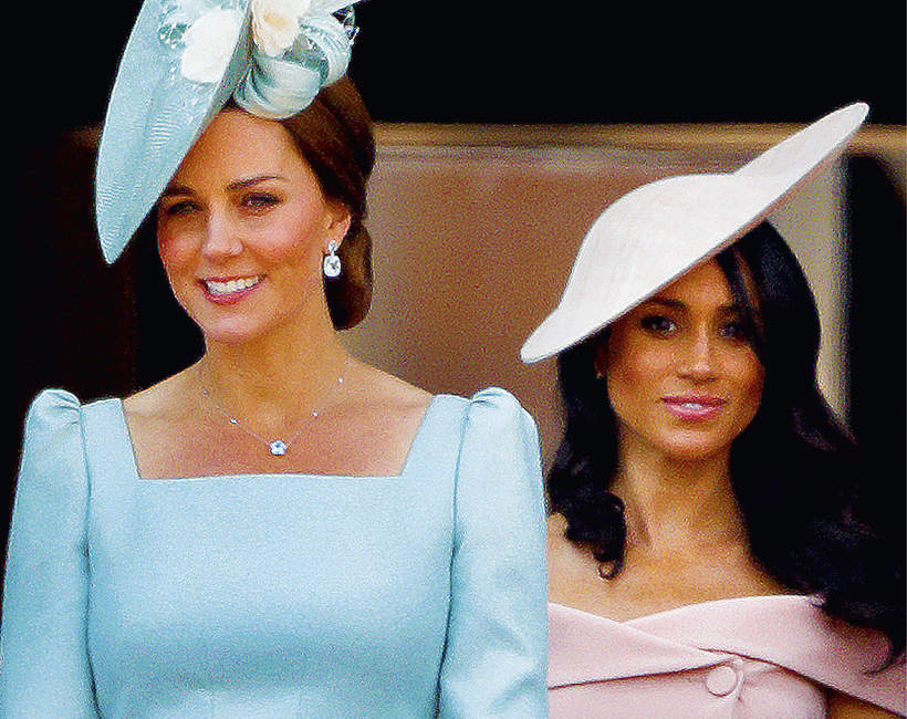 Księżna Kate księżna Meghan styl