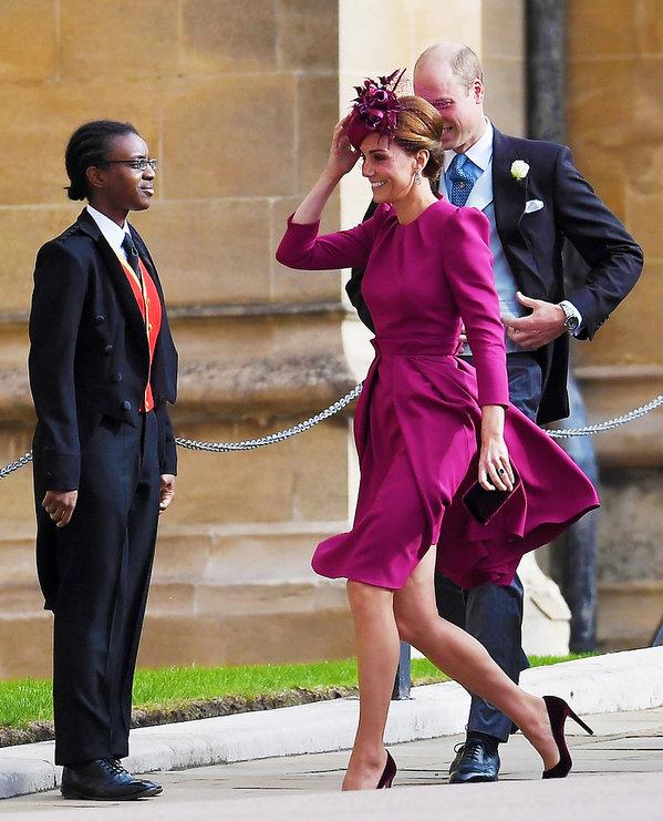 Księżna  Kate na śluie księżniczki Eugenii