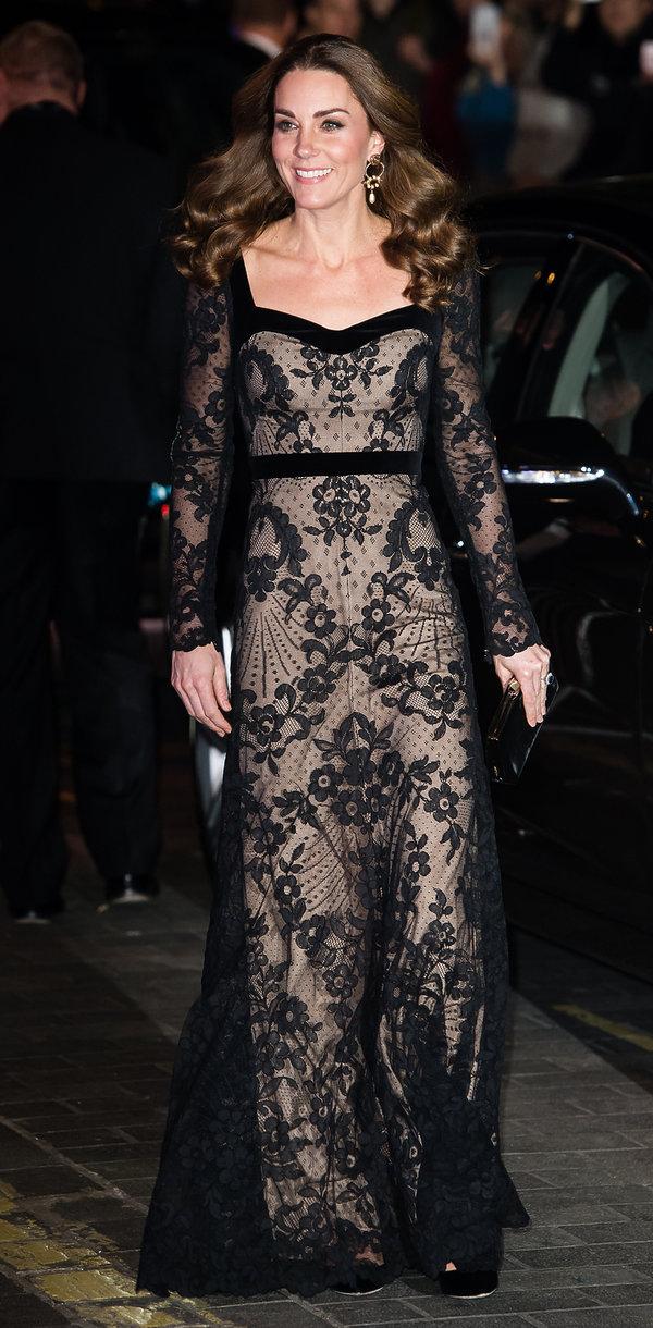 Księżna Kate stylizacja na imprezie imprezie Royal Variety 2019